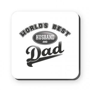 World's Best Husband & Dad Square Coaster