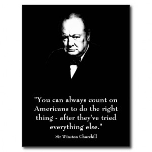 Winston Churchill and Funny Quote Post Cards