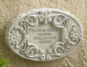 Now in God's Hands - Memorial Plaque with Stand