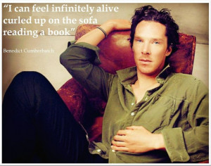 Benedict Cumberbatch book quote :) #efeitodoslivros # ...
