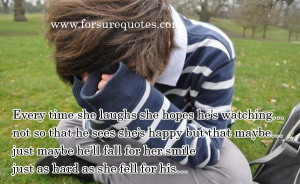 Just maybe he will fall for her smile picture quotes and sayings