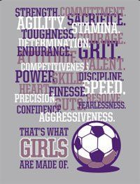 Amazon.com : Girls Soccer T-Shirt: Girls are Made of Soccer: Sports ...