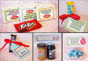 Quot Thank You Homemade Gifts Candy Sayings Kit Kat