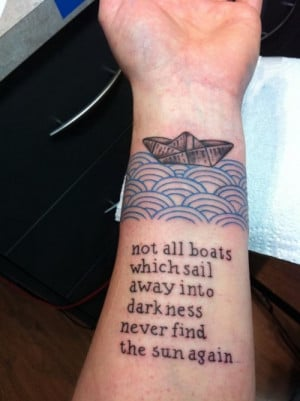 Forearm Quotes Tattoo
