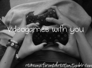 ... tags for this image include: couple, love, cute, quotes and videogames