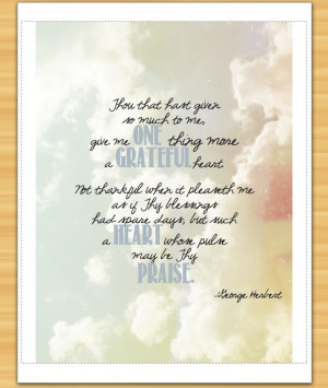 Grateful Heart Quote