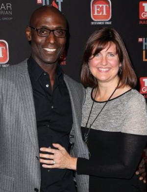 Lance Reddick and Wife