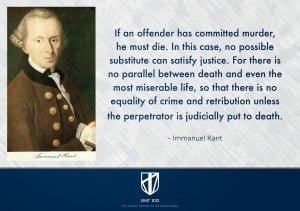 IMMANUEL KANT'S PRO DEATH PENALTY QUOTE [PRO DEATH PENALTY QUOTE]