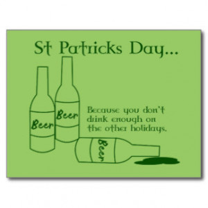 St Patrick's Day Recipe Postcard