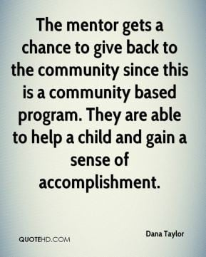 gets a chance to give back to the community since this is a community ...