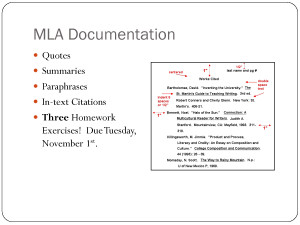 MLA Format Quotes