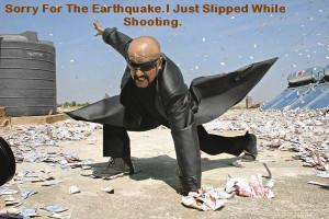 rajinikanth-slipped-while-shooting-causing-earthquake-funny
