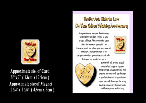 Details about BROTHER & SISTER IN LAW 25TH TO 70TH WEDDING ANNIVERSARY ...