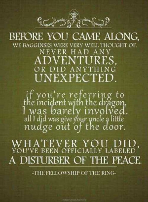 Frodo and Gandalf quote. ^^