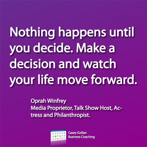 Oprah Winfrey Motivational Quote | Make A Decision.