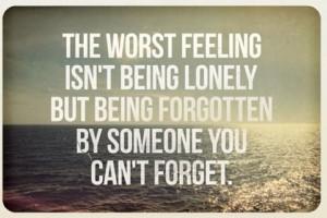 Being Forgotten...
