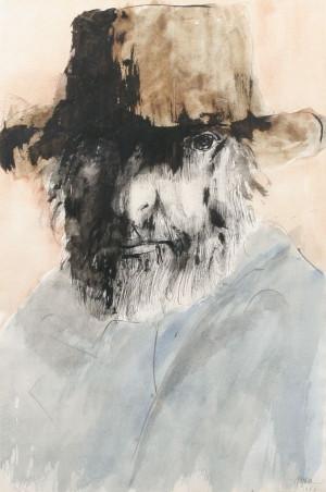 ... Baskin B1922, Contemporary Art, Leonard Baskin, Watercolors Painting