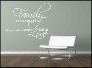 Wall Sticker Family Quote Decorative Mural Kitchen Lounge Sticker ...