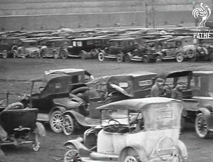 ... as an Automaker Crushes and Melt's Down Cars in the Early Thirties