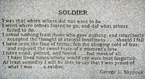 In Honor of Veterans Day: The Veteran I Almost Knew