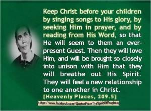 Ellen G White, Heavenly Places 209.5