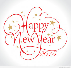 Happy New Year with stars 2015