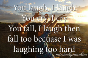 ... happy laugh cry fall laughing missluckysunshine miss lucky sunshine