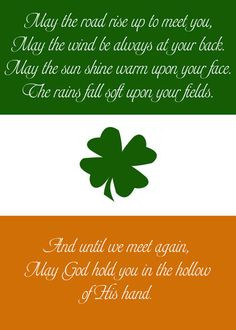 ... quote in my family growing up an irish blessing more holiday irish