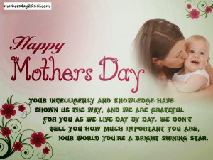 Mother's Day Cards Messages 2015