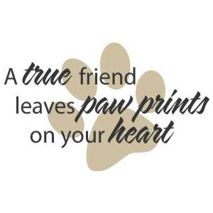 Your Heart On a True Friend Leaves Paw Prints