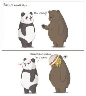 bear, comic, funny, humour, panda, racism