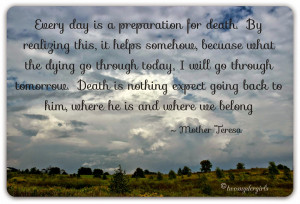 Quote by Mother Teresa on Death
