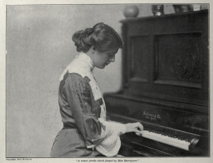 Ethel Barrymore Portrait At A Piano with a Quote Included in the ...
