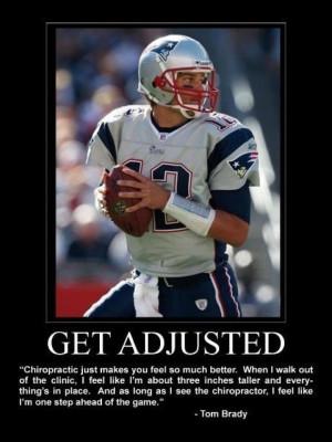 Tom Brady gets adjusted!!
