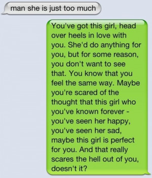 Don't let her go. Dumb ass.