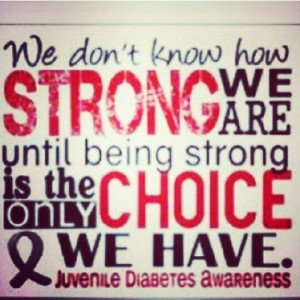 Diabetic support! Stay strong♥