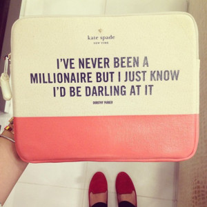 bag pink cas millionare darling quote on it cute pretty white love ...