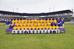 LSU coach Paul Mainieri and his players met with reporters Friday ...