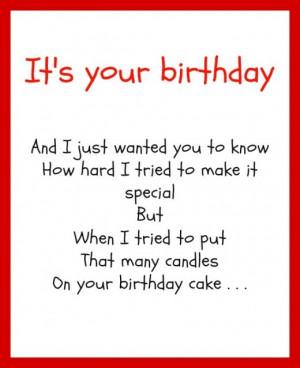 50th birthday funny poems
