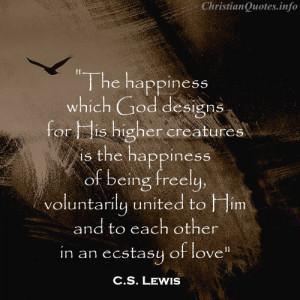 Lewis Quote – God Designs
