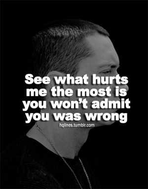eminem, hqlines, sayings, quotes, life - inspiring picture on Favim ...