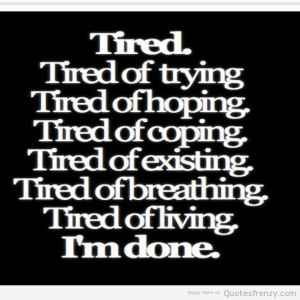 Black And White Depressing Quotes Sad