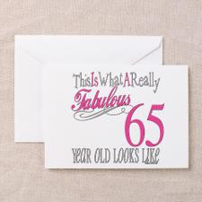 65th Birthday Gifts Greeting Card for