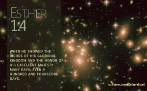 Bible Quote Esther 1:4 Inspirational Hubble Space Telescope Image