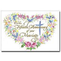 50th wedding anniversary wedding anniversary card