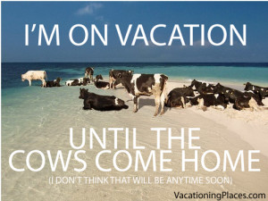 ... until this cow here comes back home!!!! Visit everyone on my return