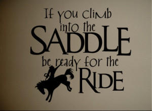 5pcs/lot Wall Sticker Decal Quote Vinyl Saddle Up Horse Rider Western ...