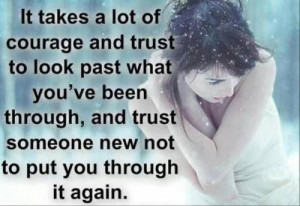 Getting over the past to trust again