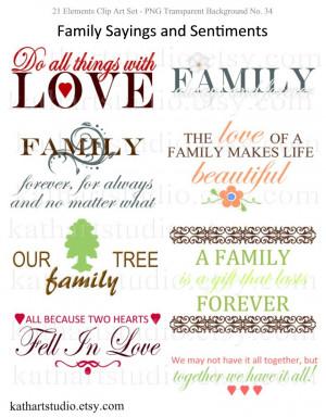 family sayings scrapbooking