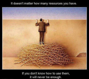 Motivational Quote on resource utilization
